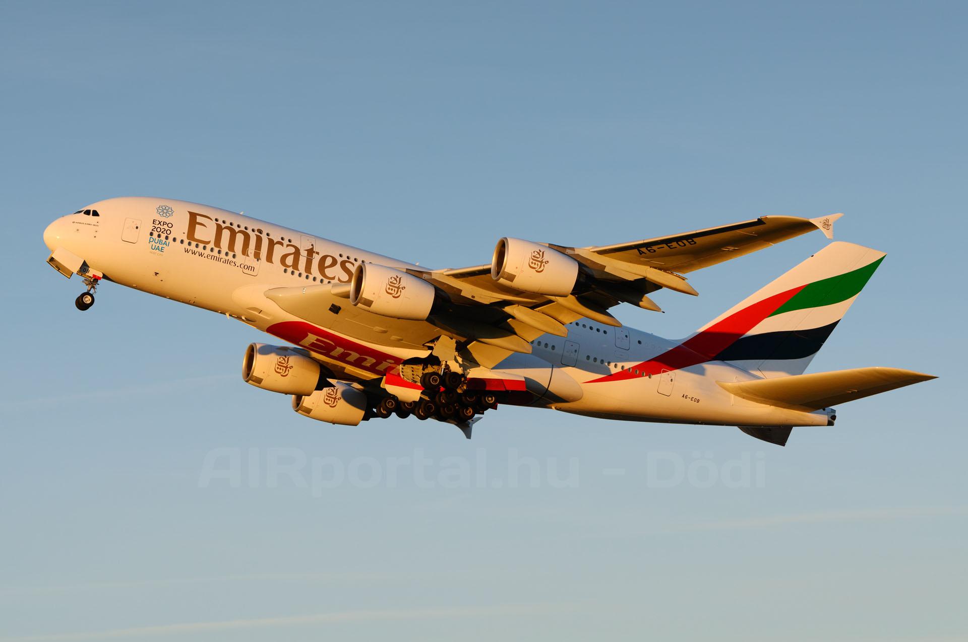 A németországi Münchenbe már mindkét napi járatát A380-assal teljesíti az Emirates. (Fotó: Kovács Gábor - AIRportal.hu) | © AIRportal.hu