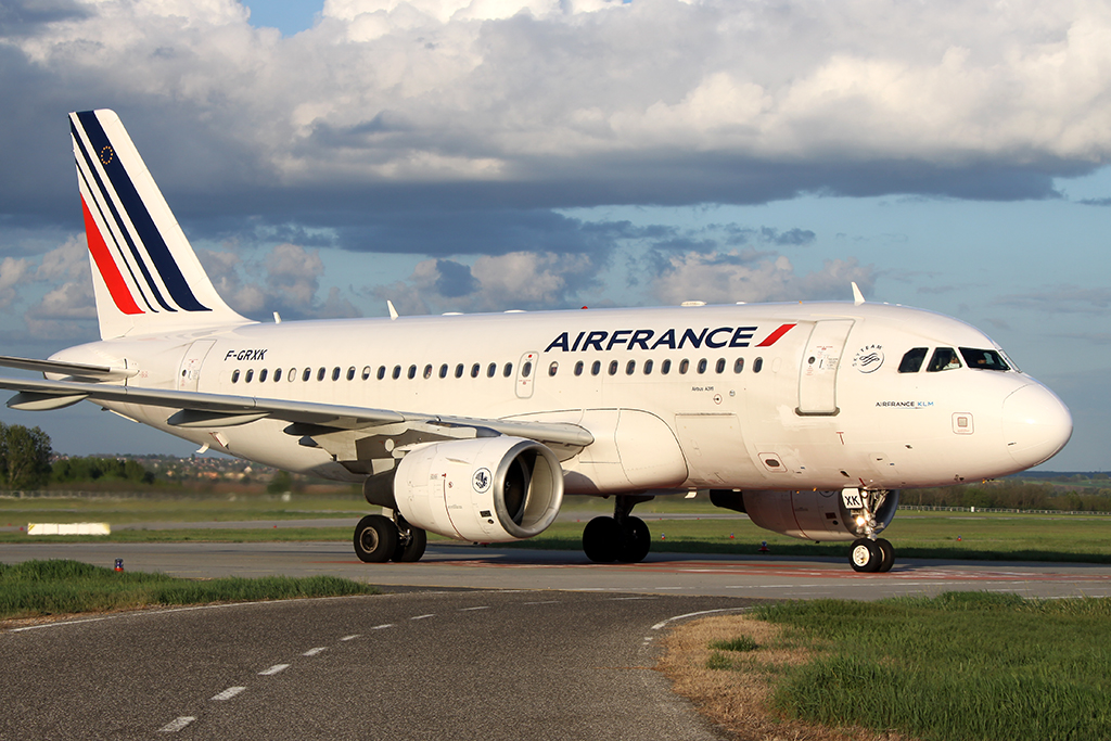 Az Air France egyik Airbus A319-es repülőgépe. (Fotó: AIRportal.hu)   © AIRportal.hu