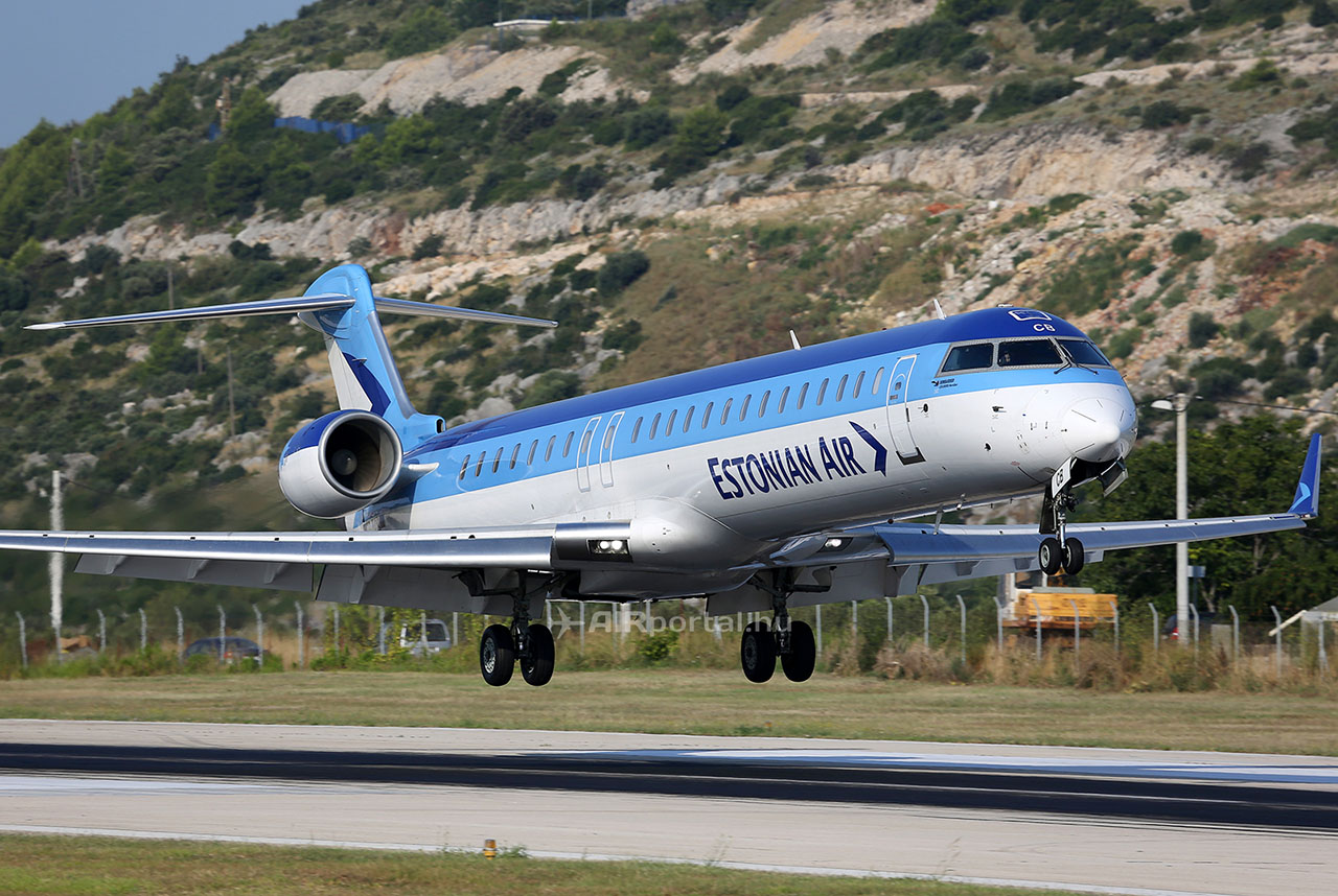 Az Estonian Air CRJ-900-as repülőgépe. (Fotó: AIRportal.hu) | © AIRportal.hu