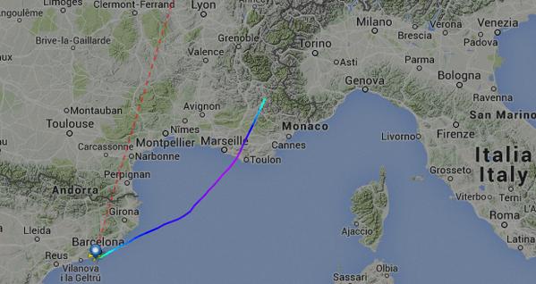 A gép útvonala a Flightradar radarképén.   © AIRportal.hu