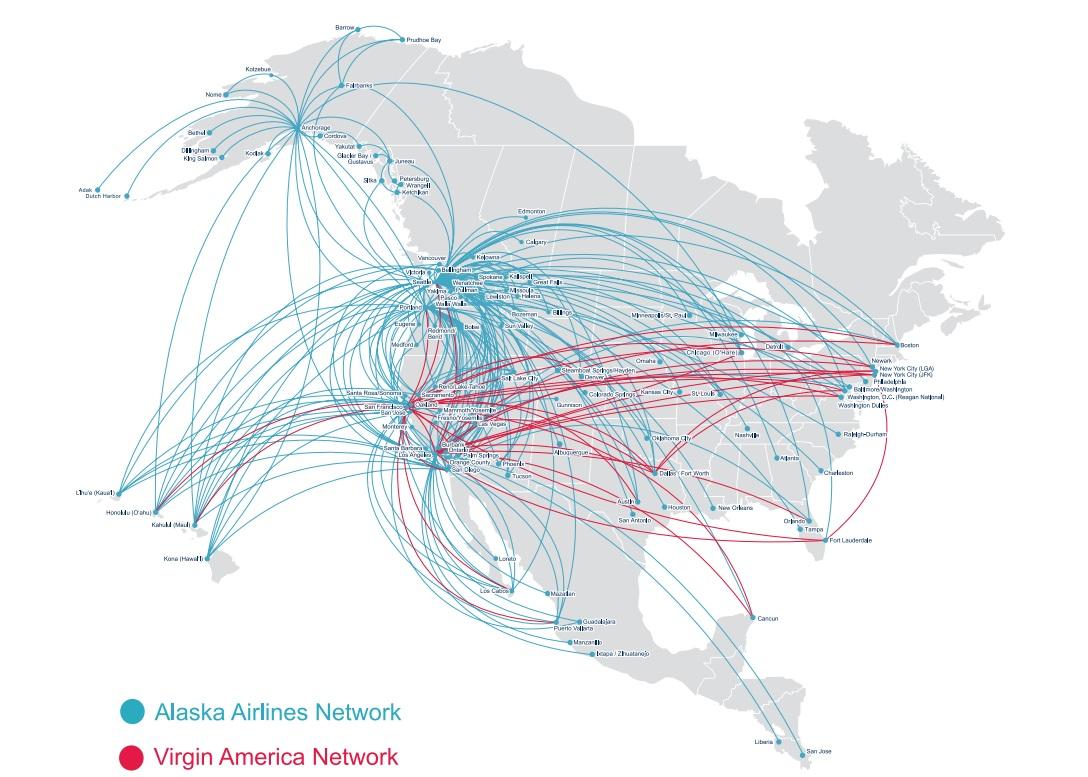 A két cég új, közös útvonalhálózata. | © AIRportal.hu