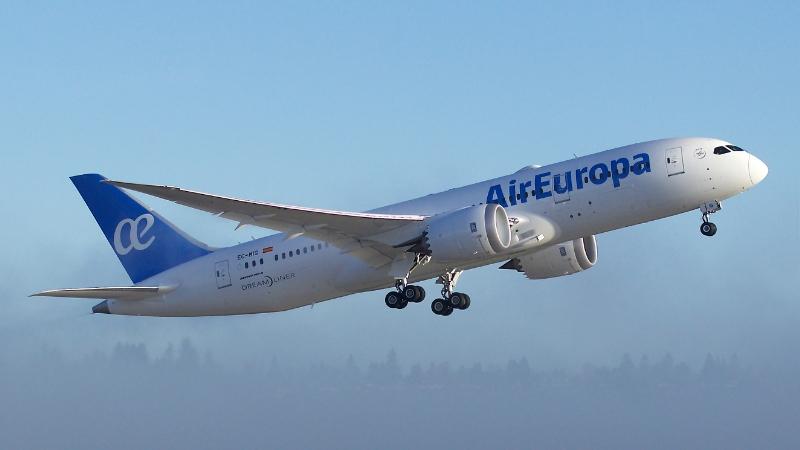 A megújult Air Europa dizájn a cég első Boeing 787 Dreamlinerén. (Fotó: Boeing) | © AIRportal.hu