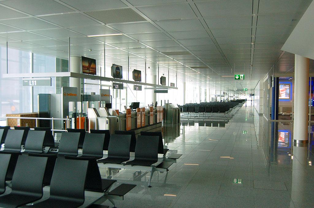 A repülőtér logikája és kivitele is követi a 2-es terminálét.Fotó: AIRportal.hu | © AIRportal.hu