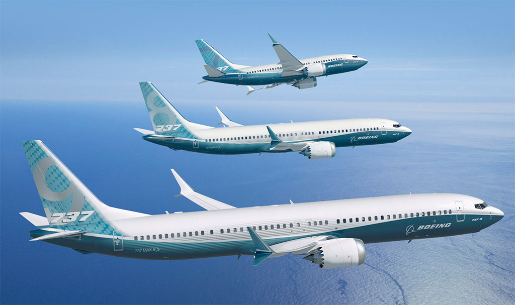 A 737 MAX típuscsalád a jelenleg ismert tervek szerint. (Forrás: Boeing Company) | © AIRportal.hu