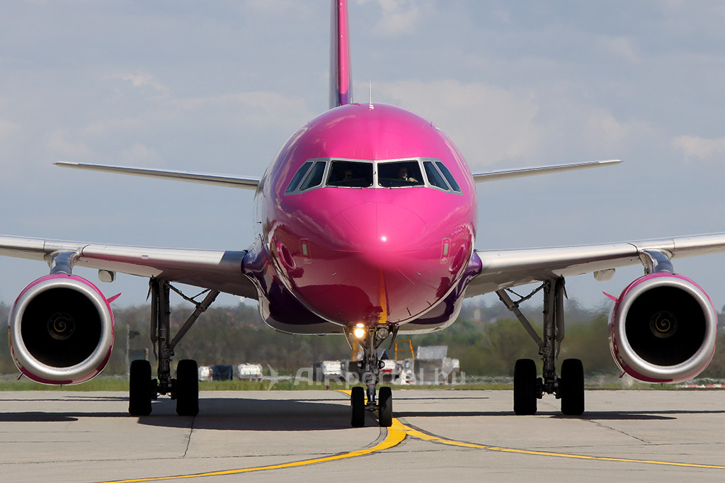 A Wizz Air egyik A320-as gépe. (Fotó: AIRportal.hu)   © AIRportal.hu