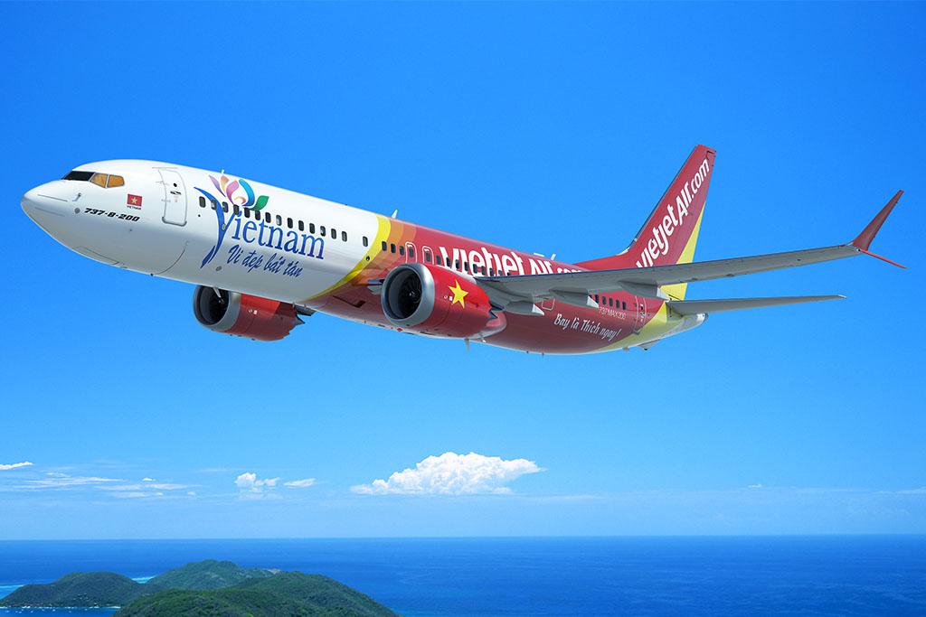 Boeing 737 MAX 200 a VietJet festésében. (Grafika: Boeing) | © AIRportal.hu