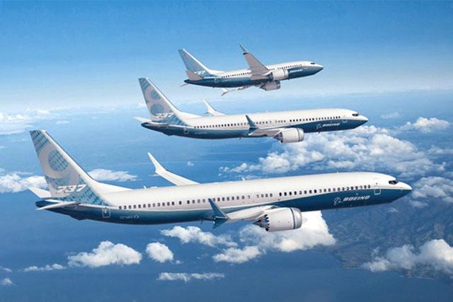 A 737 MAX repülőgépcsalád. (Grafika: Boeing) | © AIRportal.hu
