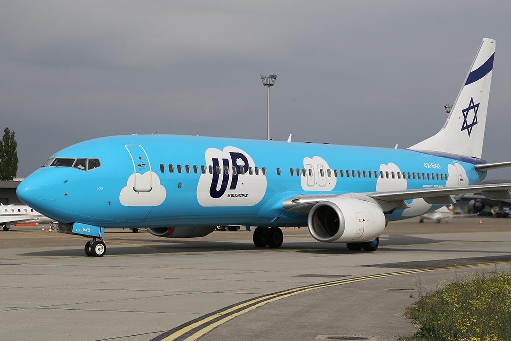 Az El-Al Boeing 737-800-as repülőgépe. (Fotó: AIRportal.hu) | © AIRportal.hu