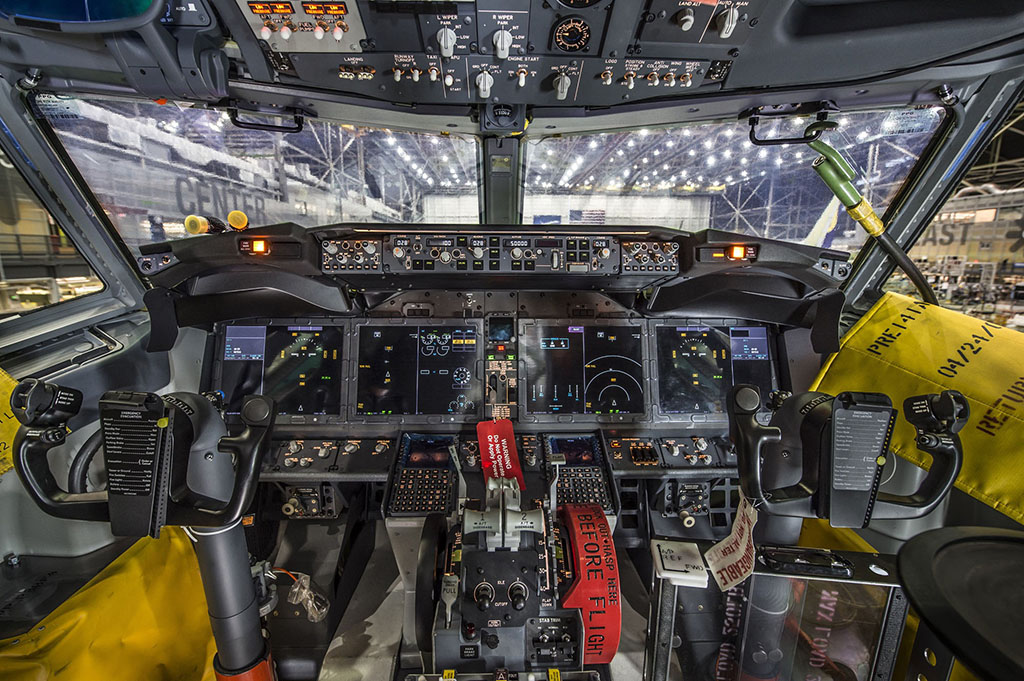 A Boeing 737 MAX pilótafülkéje. (Fotó: Boeing) | © AIRportal.hu