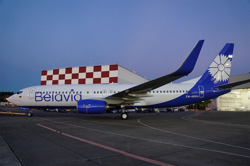 Az EW-455PA lajstromjelű vadonat új Boeing 737-800-as a fehérorosz Belavia megújult arculatában. (Fotó: Boeing) | © AIRportal.hu