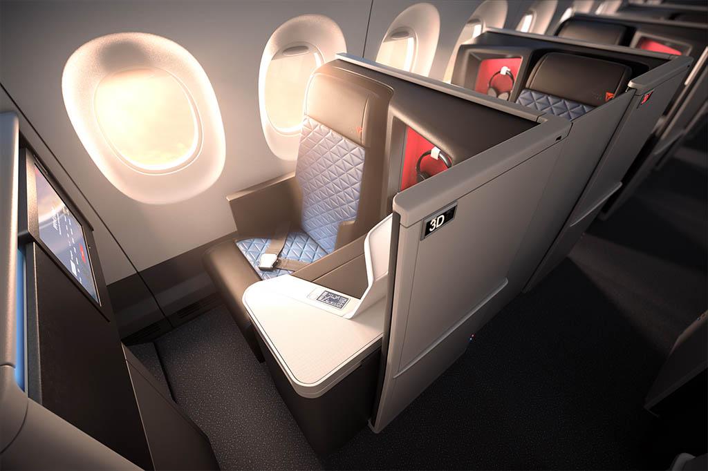 A Delta One Suite a hagyományos business osztályoknál nagyobb kényelmet és személyes teret nyújt az utasoknak, de csak nevében hasonlít például az Etihad A380-asainak fedélzetén kialakított lakosztályokra. (Forrás: Delta Airlines) | © AIRportal.hu