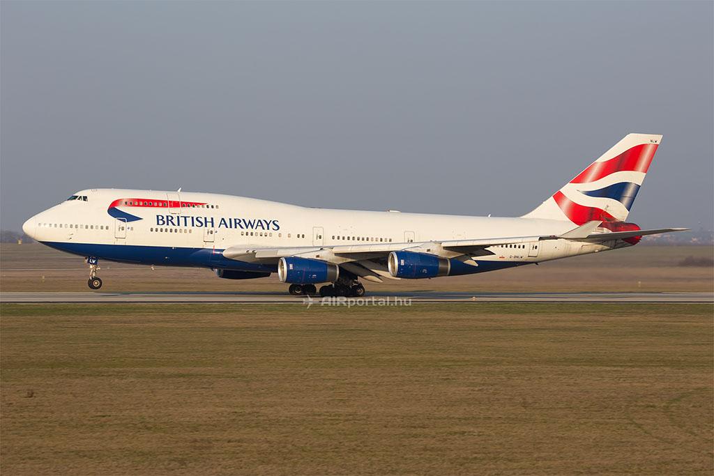 A British Airways Boeing 747-ese Budapesten még 2014-ben. (Fotó: AIRportal.hu) | © AIRportal.hu