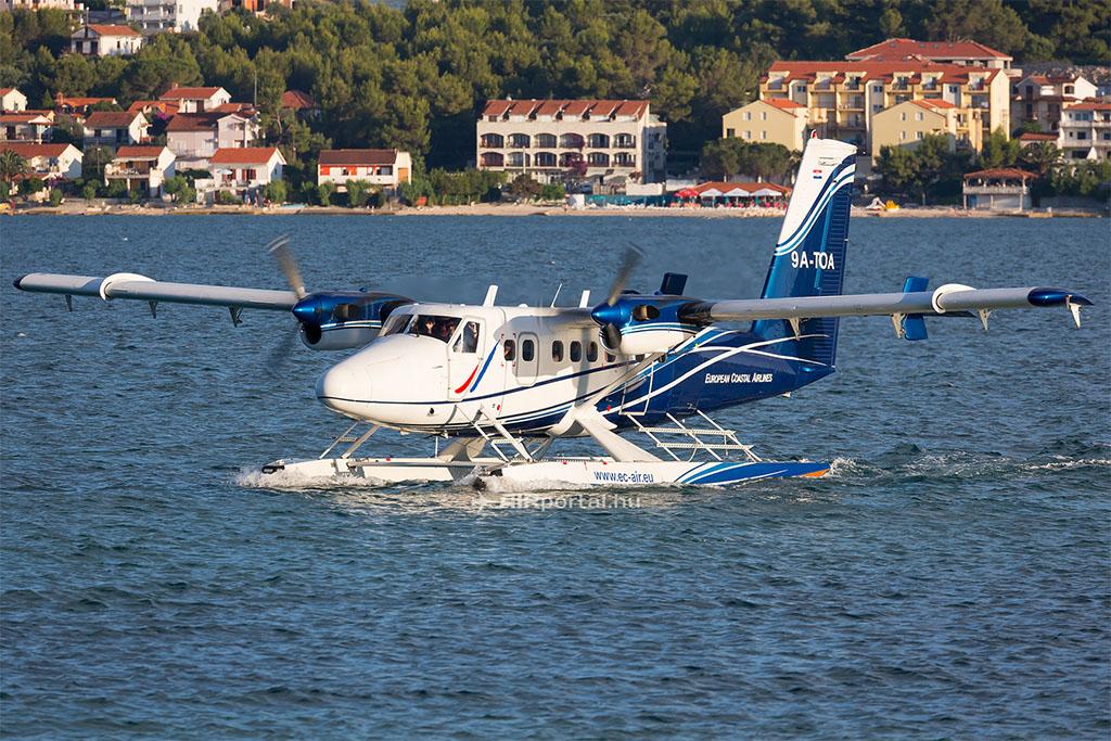 A légitársaság első DeHavilland Twin Otter 300-6 repülőgépe. (Fotó: AIRportal.hu) | © AIRportal.hu