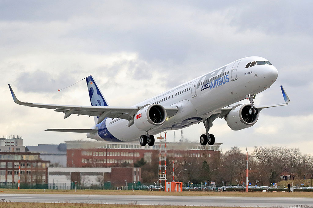 Levegőben az első A321neo. (Fotó: Airbus)   © AIRportal.hu