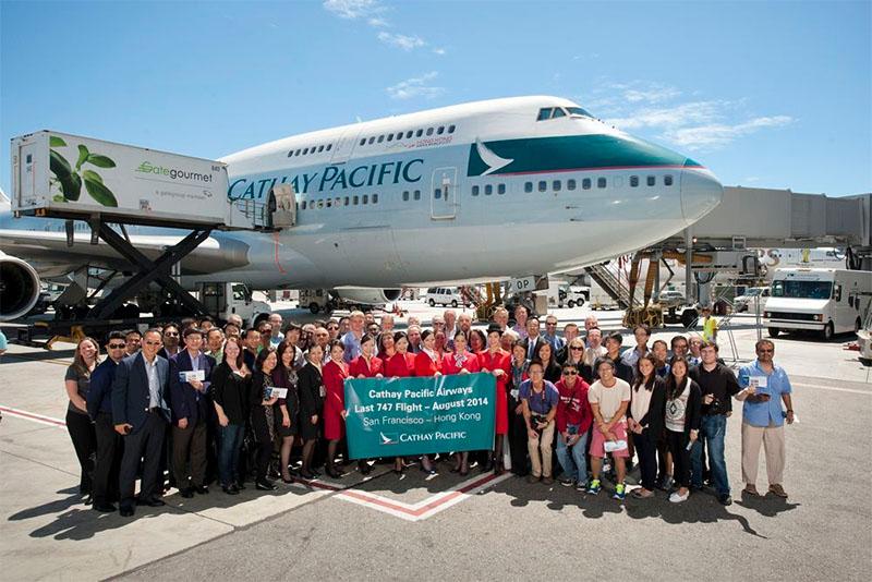 Korábbi kép a légitársaság utolsó 747-essel teljesített San Francisco - Hong Kong járatának 2014-es köszöntéséről. (Fotó: Cathay Pacific)   © AIRportal.hu
