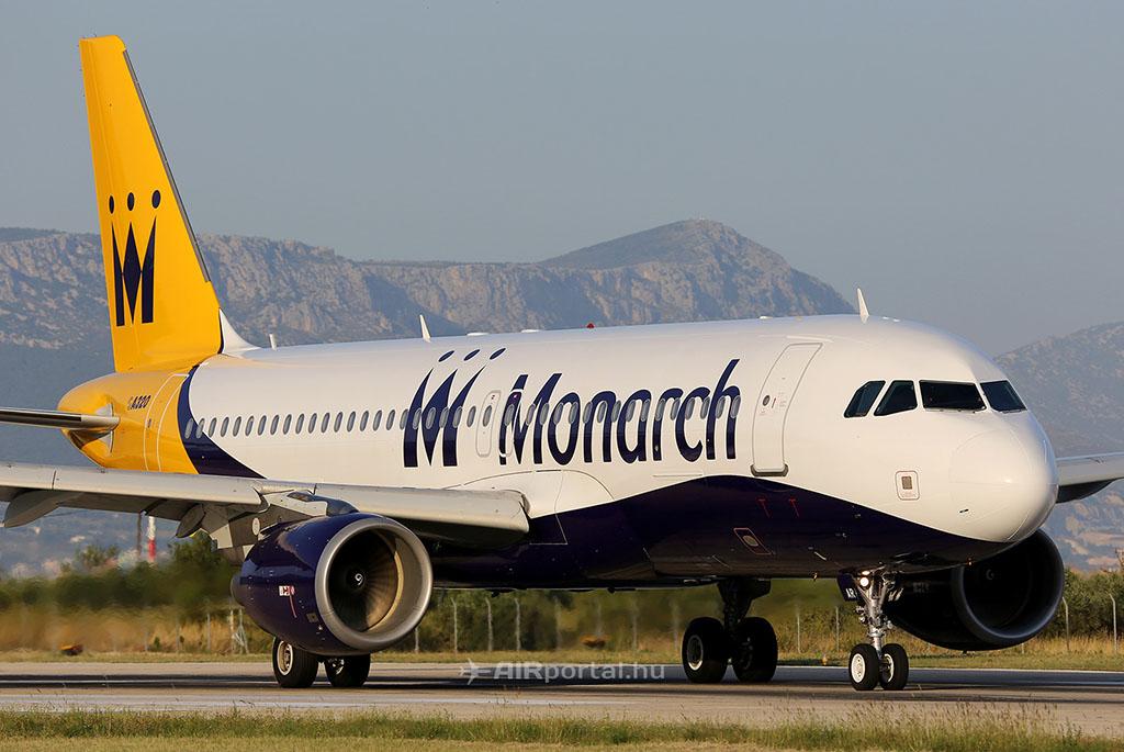 A Monarch légitársaság egyik A320-as repülőgépe. (Fotó: AIRportal.hu) | © AIRportal.hu