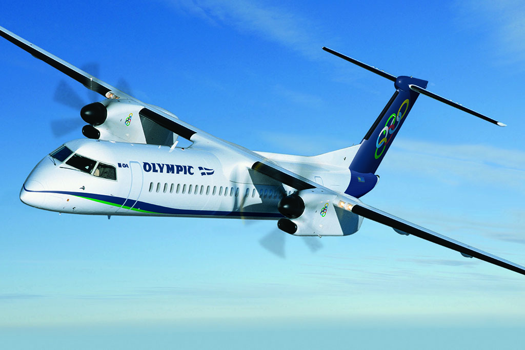 Az Olympic Air Q400-as repülőgépe (Forrás: Olympic Air)   © AIRportal.hu