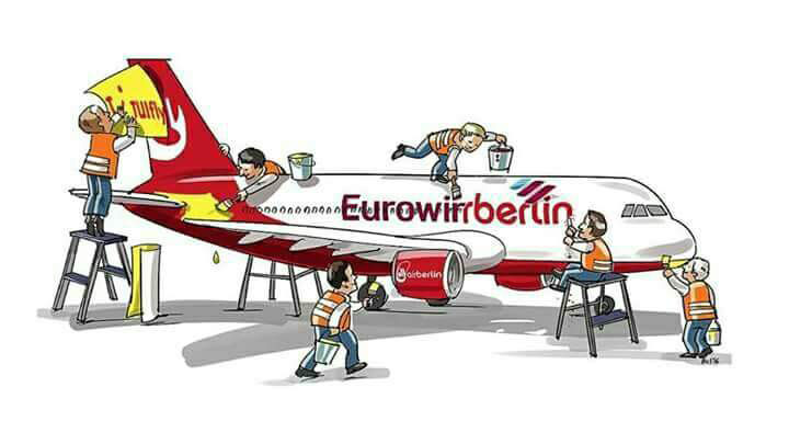 Az utóbbi idők Air Berlin körüli történései már a mémgyártókat is megihlették. (Forrás: Facebook) | © AIRportal.hu