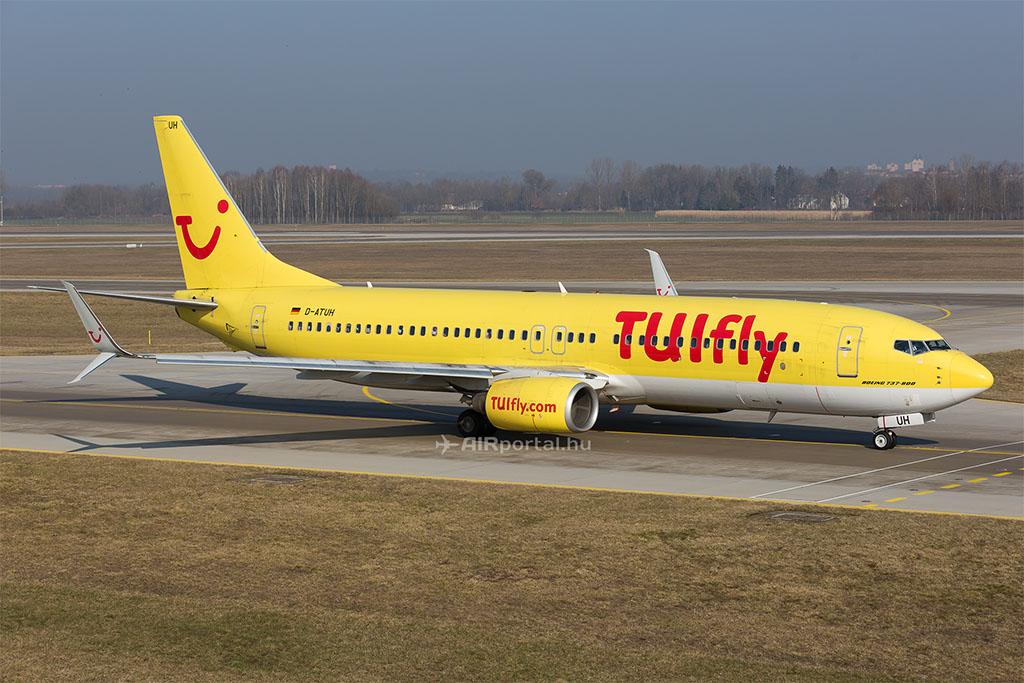 A Tuifly egyik Boeing 737-800-as repülőgépe. (Fotó: AIRportal.hu) | © AIRportal.hu