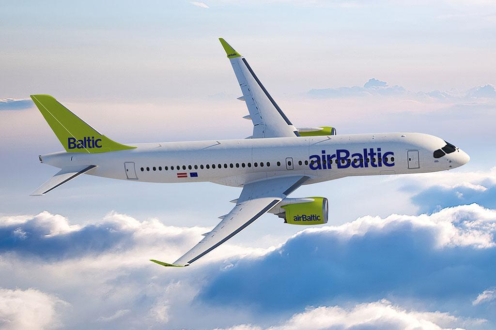 CS300 az airBaltic festésében. (Grafika: Bombardier) | © AIRportal.hu