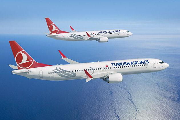 737MAX-ek a Turkish Airlines festésében. (Grafika: Boeing) | © AIRportal.hu
