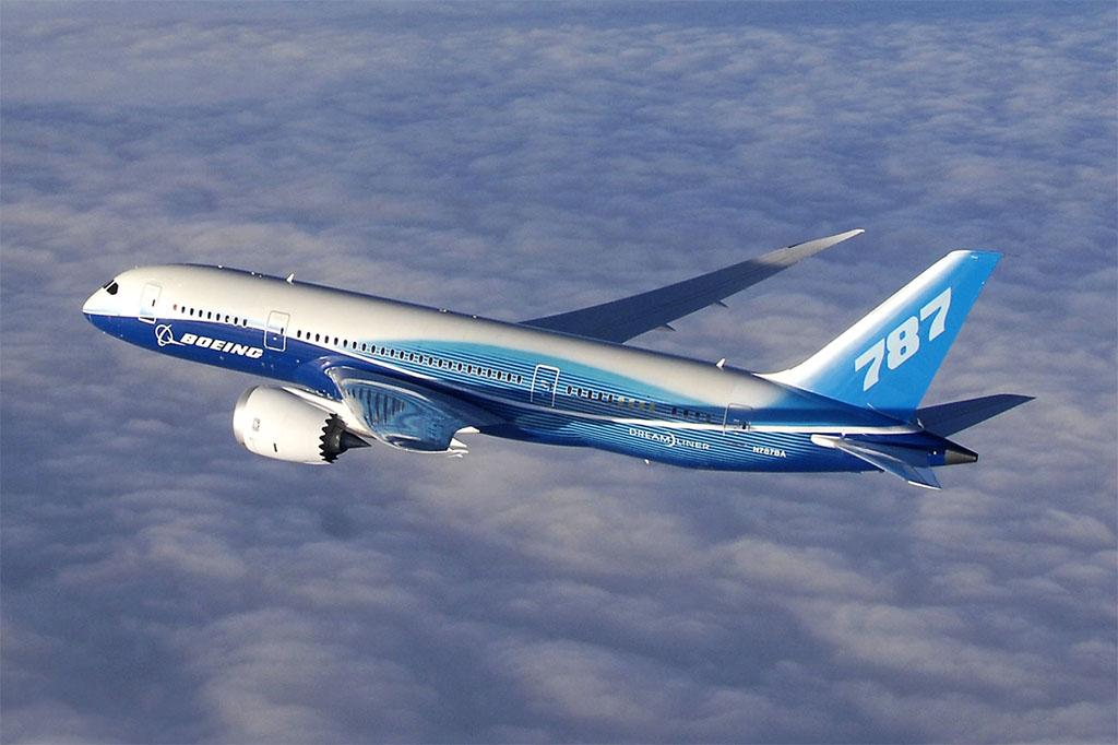 Boeing 787 Dreamliner a gyártó festésmintájában. (Forrás: Boeing) | © AIRportal.hu