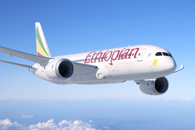 Az Ethiopian Airlines Dreamlinere. (Grafika: Boeing)   © AIRportal.hu