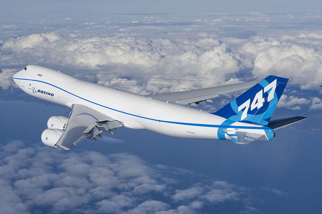 A 747-8F (cargo változat) 2010. februárjában teljesítette első repülését. (Fotó: Boeing)   © AIRportal.hu
