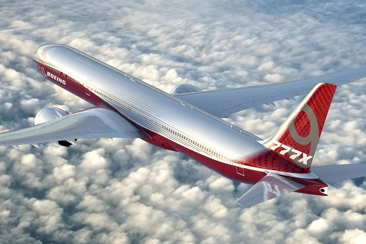 A Boeing 777-9X típusváltozat. Az ennél is nagyobb verzió elérné a 80 méteres törzshosszt. (Forrás: Boeing) | © AIRportal.hu