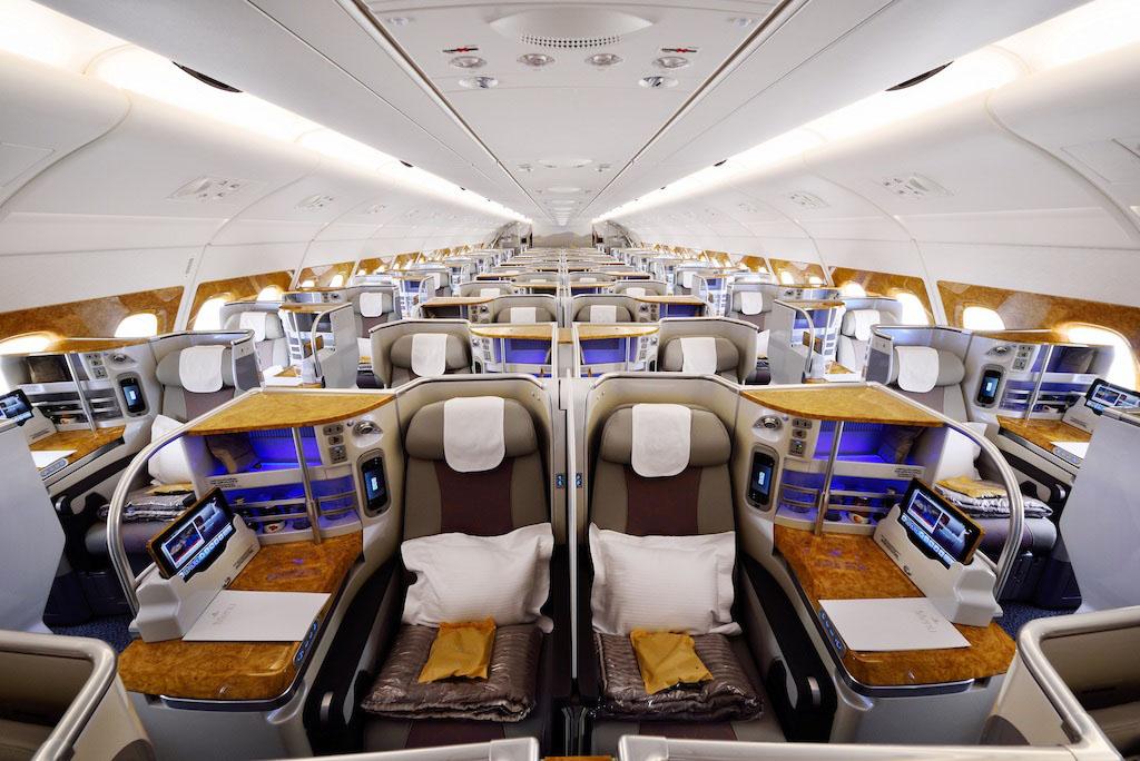 Az A380-as megújult fedélzeti berendezése. (Fotó: Emirates) | © AIRportal.hu