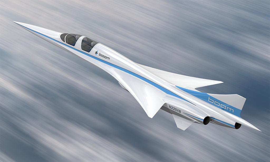 Az 1:3 arányban lekicsinyített prototípus két fős személyzettel repül majd. (Forrás: Boom Technology) | © AIRportal.hu