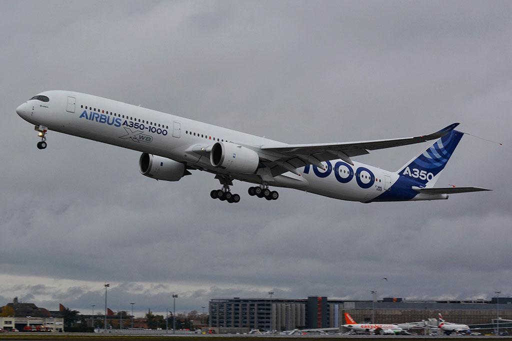 Levegőben az Airbus A350-1000 prototípusa. (Fotó: Airbus) | © AIRportal.hu