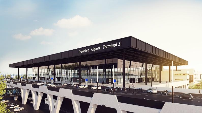 Így néz majd ki az új terminál indulási csarnoka. (Forrás: Fraport AG) | © AIRportal.hu