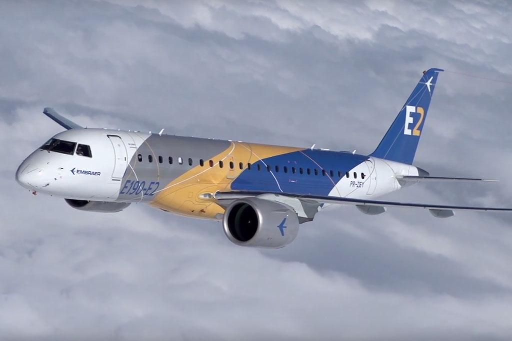 A modernizált típuscsalád középső tagja, az E190-E2 az idén kezdte berepülési programját (Forrás: Embraer) | © AIRportal.hu