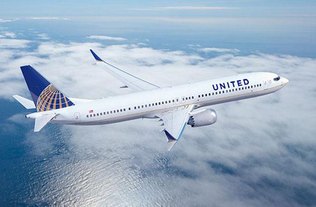 Így néz majd ki a United festésében a Boeing 737 MAX 9 (Forrás: Boeing) | © AIRportal.hu