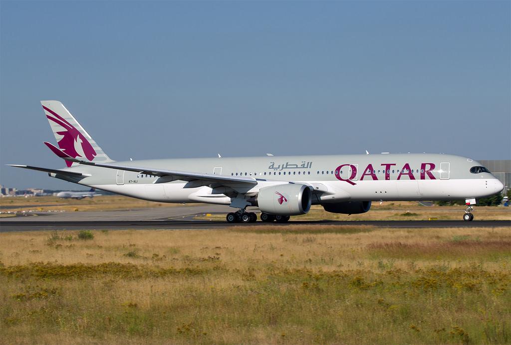 A Qatar Airways Airbus A350-ese Frankfurtban. (Fotó: AIRportal.hu) | © AIRportal.hu