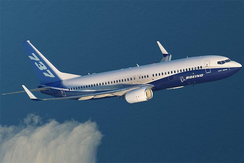 Boeing 737-800NG az amerikai repülőgépgyár festésében. (Forrás: Boeing) | © AIRportal.hu