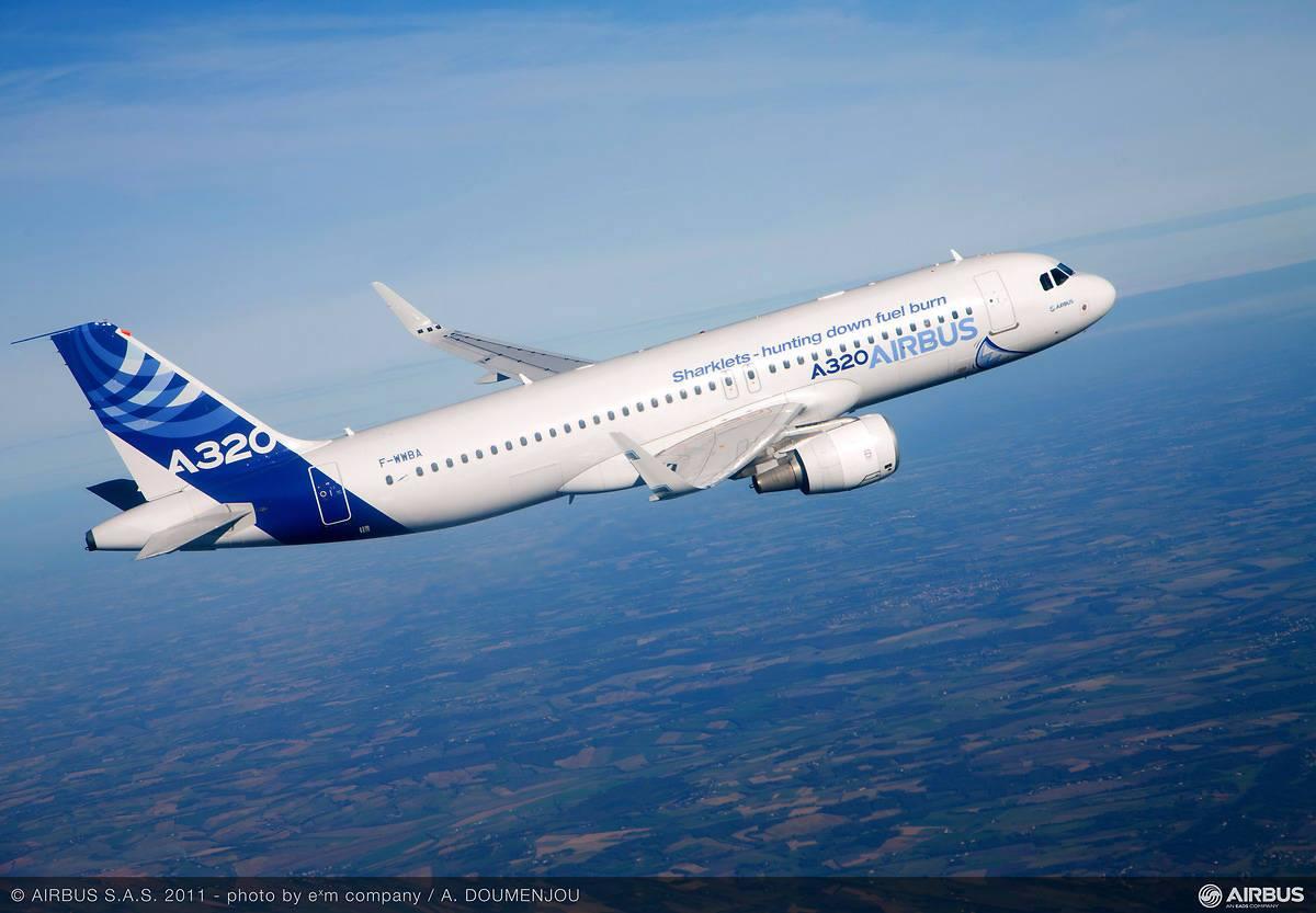 Airbus A320 (ceo - 'hagyományos' hajtóműves változat) az európai repülőgépgyár festésében. (Fotó: Airbus) | © AIRportal.hu