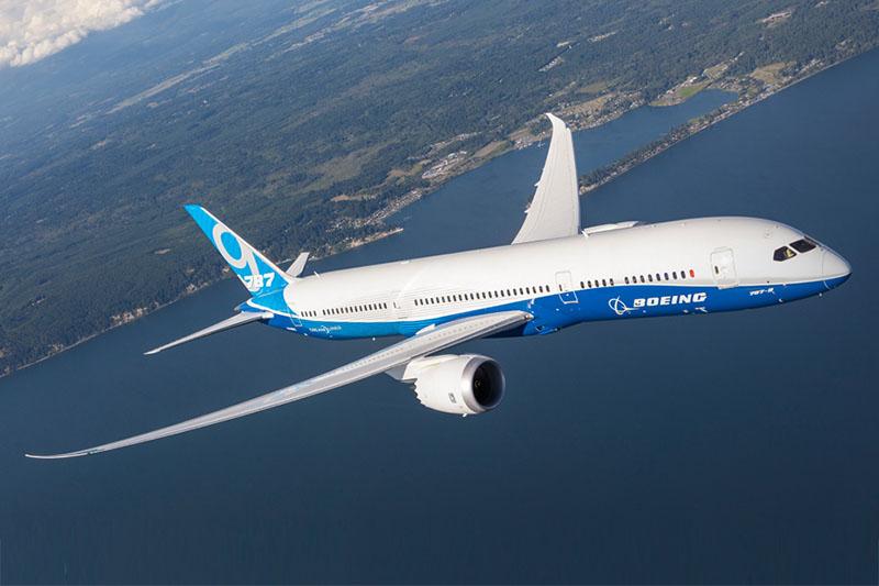 Boeing 787-9 Dreamliner az amerikai gyártó festésmintájában. (Forrás: Boeing)   © AIRportal.hu