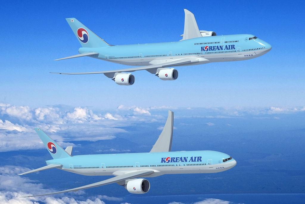 Boeing 747-8I és 777-300ER Korean Air festésében. (Forrás: Boeing)   © AIRportal.hu