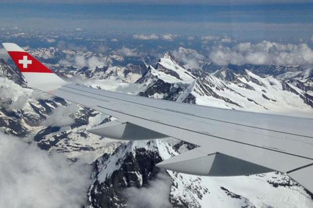 A Swiss CS100-as repülőgépe az Alpok csúcsai felett. (Fotó: Körtvélyes Tivadar - AIRportal.hu) | © AIRportal.hu