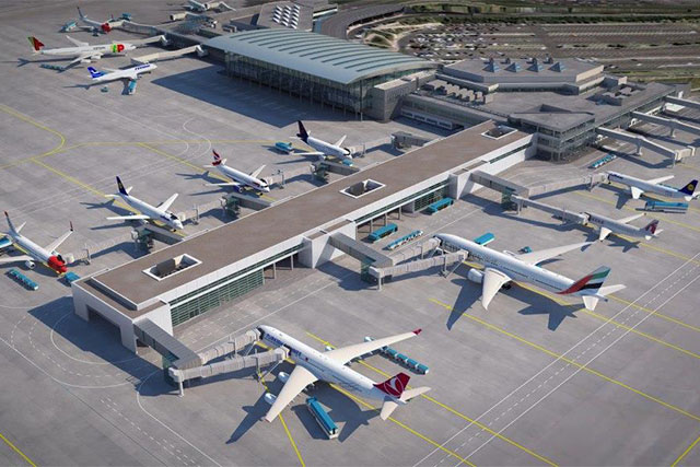 Így fog kinézni a Pier B. (Forrás: Budapest Airport)   © AIRportal.hu