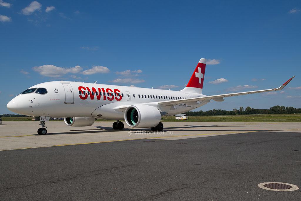 Swiss Bombardier CS100. (Fotó: AIRportal.hu) | © AIRportal.hu