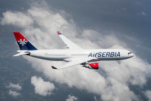 Az Air Serbia Airbus A330-as repülőgépe. (Forrás: Air Serbia)   © AIRportal.hu