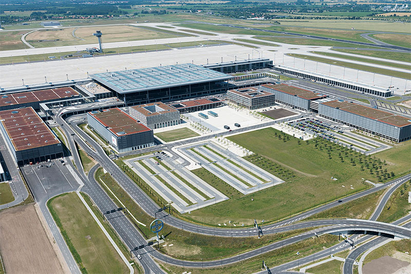 Az új berlini repülőtér földi oldala. (Fotó: Berlin-Brandburg Airport) | © AIRportal.hu
