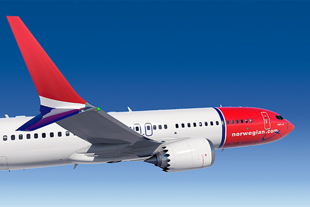 Grafika a norvég fapados 737 MAX-típusáról (Forrás: Boeing) | © AIRportal.hu
