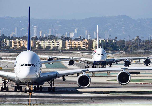 Airbus A380-asok a Los Angeles-i Nemzetközi Repülőtéren (Fotó: LAX Airport) | © AIRportal.hu
