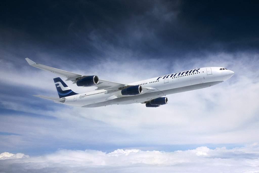 A finnek A340-ese a régebbi, színesebb festésmintában. Egyre ritkul a típus a világ légitársaságainál (Forrás: Airbus) | © AIRportal.hu