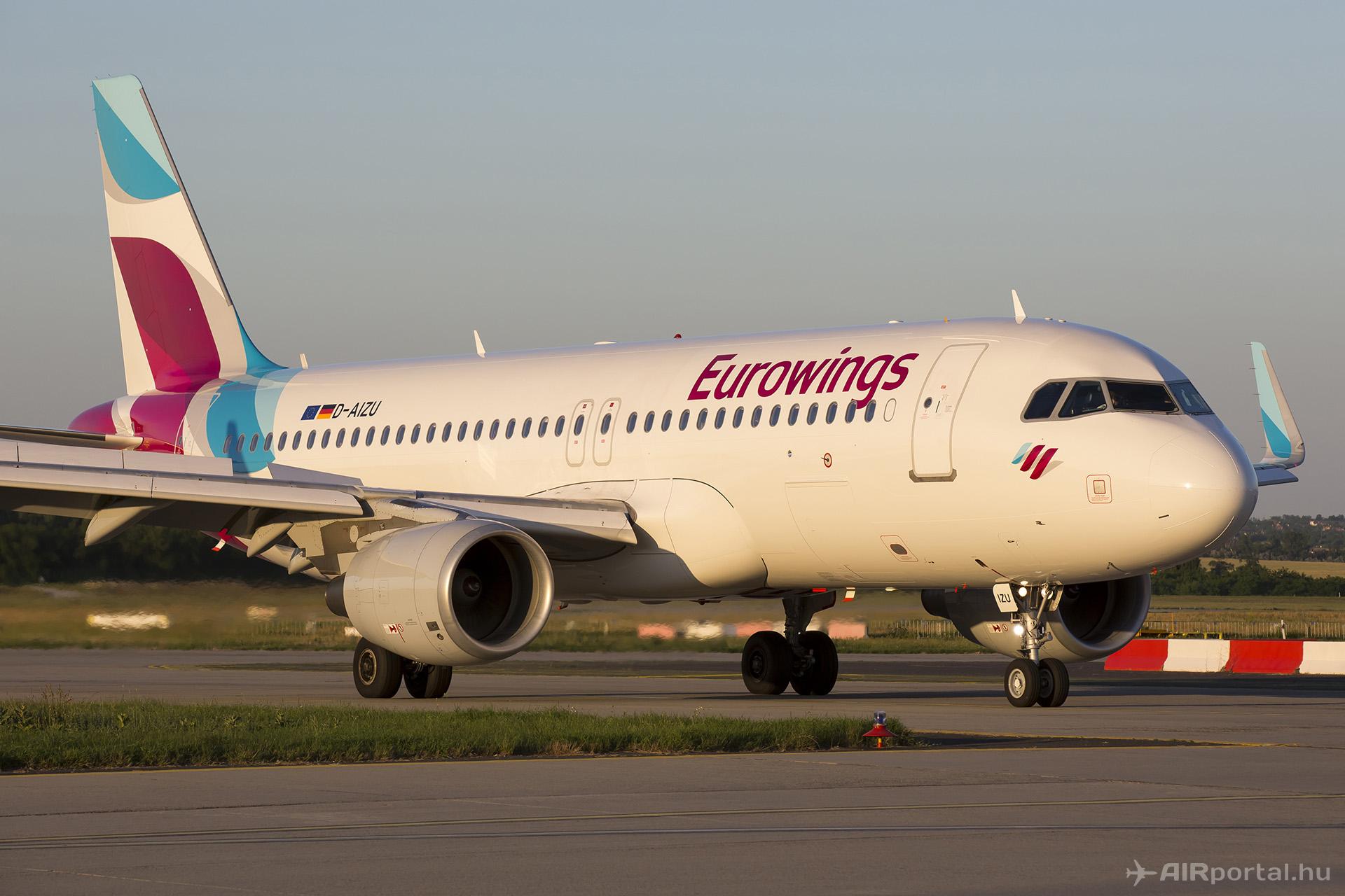 Az Eurowings sharkletekkel felszerelt egyik A320-asa (Fotó: AIRportal.hu) | © AIRportal.hu
