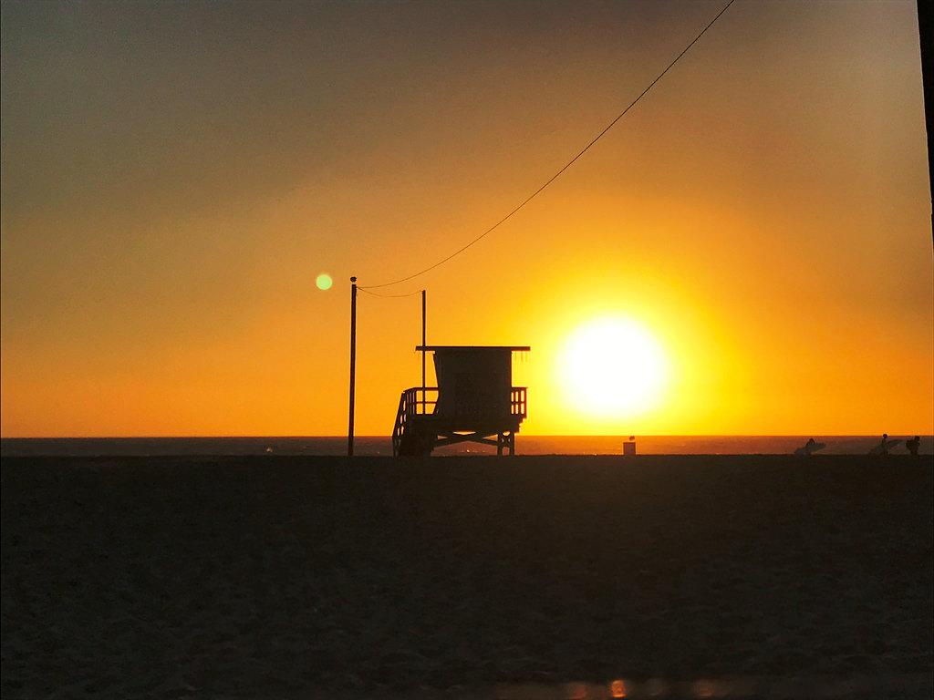 Naplemente Venice Beach-en. Giccses, de mámorító. (Fotó: AIRportal.hu | © AIRportal.hu